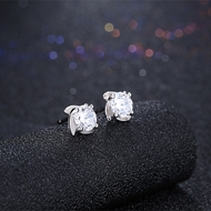 Picture of Best-Selling White Platinum Plated Stud