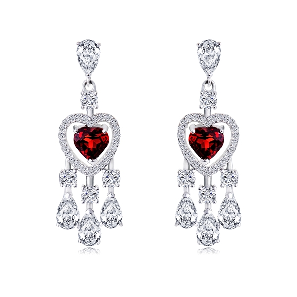Picture of Nature Garnet Daily Chandelier Earrings 3AS042443E