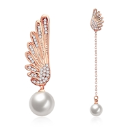 Show details for Artificial Pearl Cute Dangle Earrings 3LK053763E