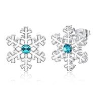 Show details for  Cubic Zirconia Zinc Alloy Stud Earrings 3LK053859E