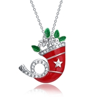 Show details for  Simple Holiday Pendant Necklaces 3LK053871N