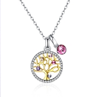 Show details for Holiday 925 Sterling Silver Pendant Necklaces 3LK053923N