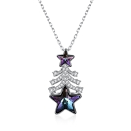 Show details for Holiday Swarovski Element Pendant Necklace with Fast Shipping