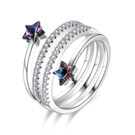 Show details for Nickel Free Platinum Plated Swarovski Element Fashion Ring Online Shopping