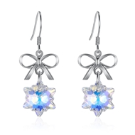Show details for 925 Sterling Silver Swarovski Element Dangle Earrings at Super Low Price