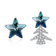 Show details for Sparkling Star Casual Dangle Earrings