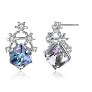 Show details for Low Cost 925 Sterling Silver Geometric Stud Earrings with Low Cost