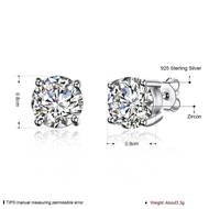 Picture of Distinctive White Fashion Stud Earrings of Original Design