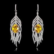 Picture of Fancy Big Cubic Zirconia Dangle Earrings
