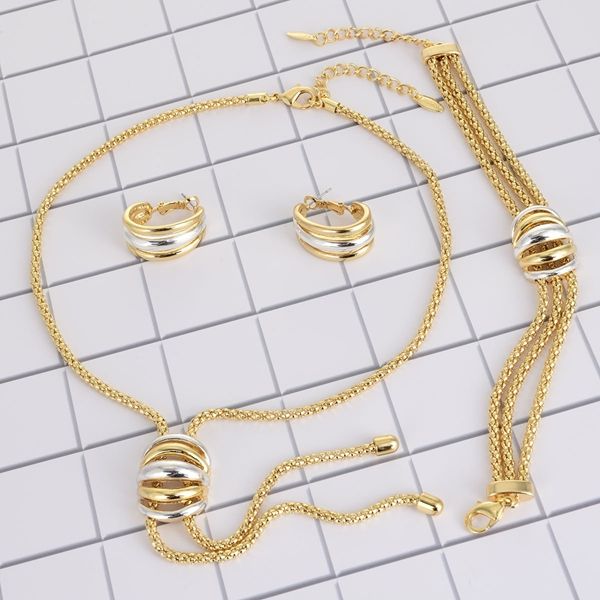 Picture of Affordable Zinc Alloy Gold Plated 3 Piece Jewelry Set from Trust-worthy Supplier