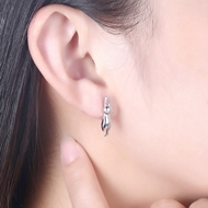 Picture of Animal 925 Sterling Silver Stud Earrings Online Shopping