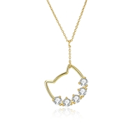 Picture of Famous Small Swarovski Element Pendant Necklace