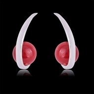Picture of Zinc Alloy Platinum Plated Hoop Earrings in Flattering Style