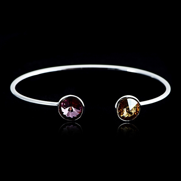 Picture of Inexpensive Platinum Plated Zinc Alloy Fashion Bangle for Girlfriend