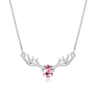 Show details for 925 Sterling Silver Cubic Zirconia Pendant Necklace in Exclusive Design