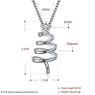 Picture of Women's Copper or Brass Platinum Plated Pendant Necklace with Speedy Delivery
