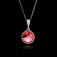Picture of Reasonably Priced Platinum Plated Red Pendant Necklace with Member Discount
