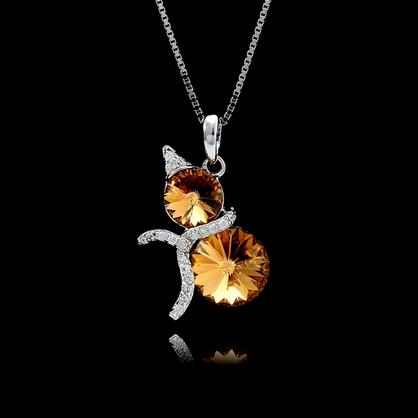 Picture of Irresistible Swarovski Element 925 Sterling Silver Pendant Necklace Wholesale Price