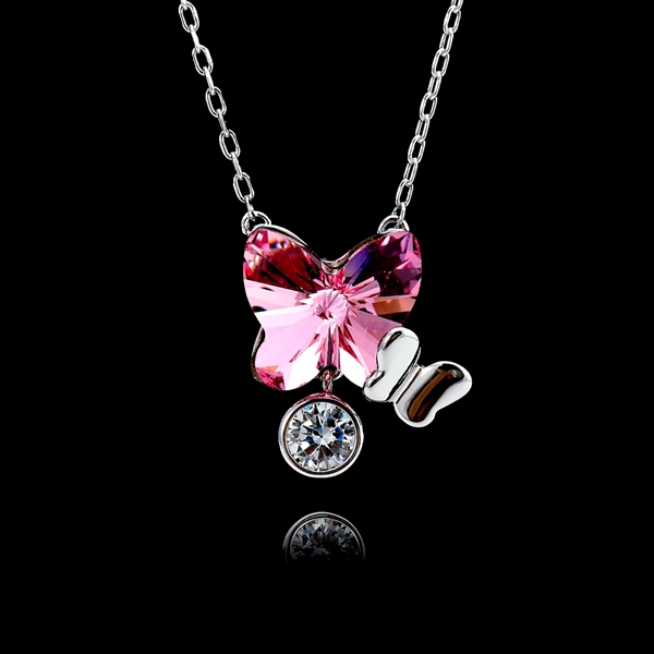 Picture of Great Swarovski Element 925 Sterling Silver Pendant Necklace