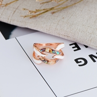 Picture of Eye-Catching Colorful Shell Fashion Ring at Unbeatable Price