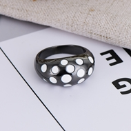 Picture of Bulk Gunmetal Plated Enamel Fashion Ring with Speedy Delivery