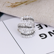 Picture of Hypoallergenic Platinum Plated Copper or Brass Fashion Ring As a Gift