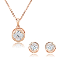 Picture of The Finest Rose Gold Plated Small 2 Pieces Jewelry Sets