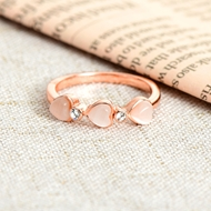 Picture of Fashion Rose Gold Plated Fashion Ring with Easy Return