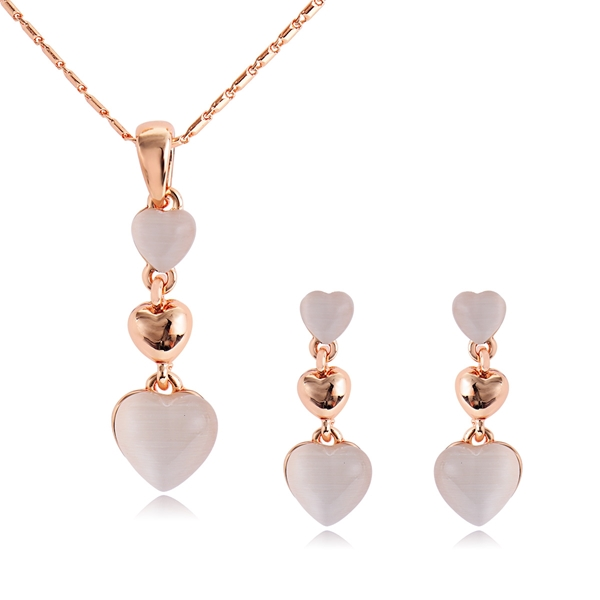 Picture of Need-Now White Zinc Alloy Necklace and Earring Set from Editor Picks