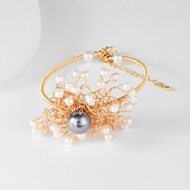 Picture of Shop Gold Plated Opal Fashion Bracelet with Price