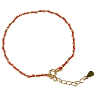 Picture of 925 Sterling Silver Gold Plated Fashion Bracelet with Fast Delivery