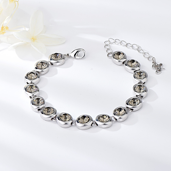 Picture of Small Platinum Plated Fashion Bracelet at Unbeatable Price