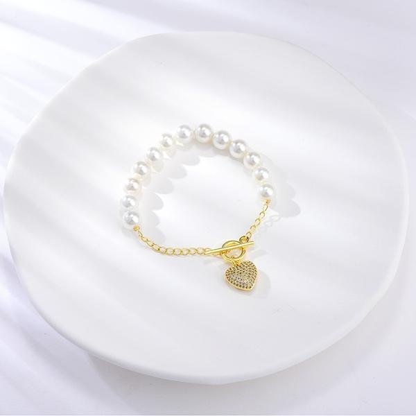 Picture of Copper or Brass Cubic Zirconia Fashion Bracelet of Original Design