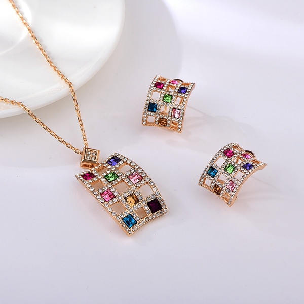 Picture of Origninal Classic Colorful 2 Piece Jewelry Set
