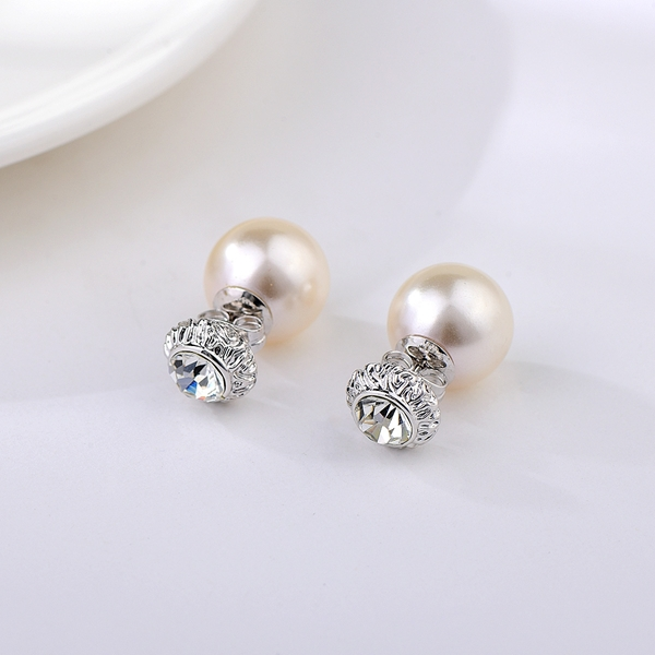 Picture of Nickel Free Platinum Plated Classic Stud Earrings with Easy Return