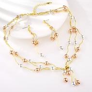 Picture of Pretty Big Dubai 2 Piece Jewelry Set