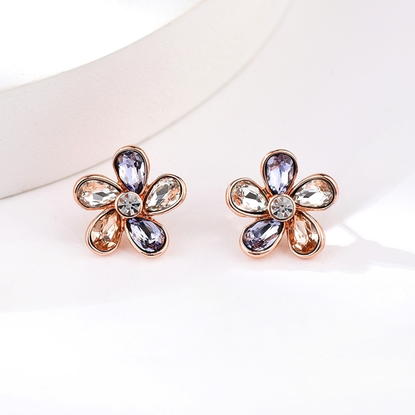 Picture of Buy Rose Gold Plated Zinc Alloy Stud Earrings in Flattering Style