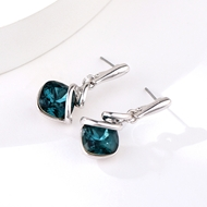 Picture of Pretty Artificial Crystal Blue Dangle Earrings